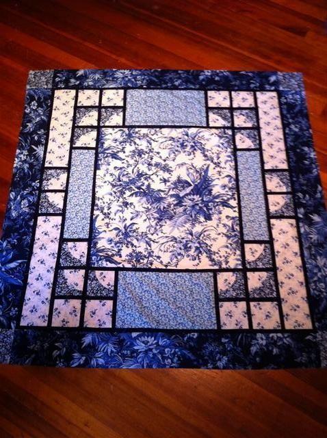 Beautiful blue quilt!: