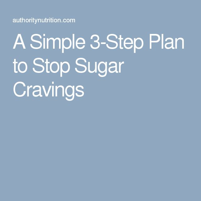 A Simple 3-Step Plan to Stop Sugar Cravings