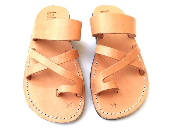 SOLDES Nouvelles sandales en cuir faites main pour Hommes