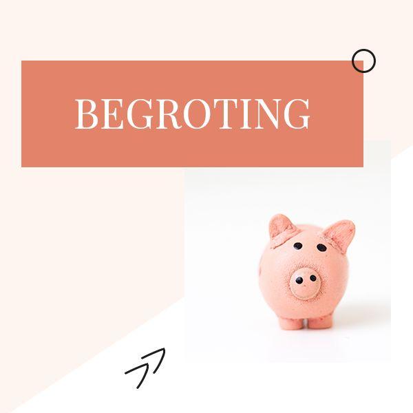 Geld is ook een dingetje met je bruiloft. Maak goeie keuzes door een begroting te maken! Hoe? Bekijk daarvoor dit bord.