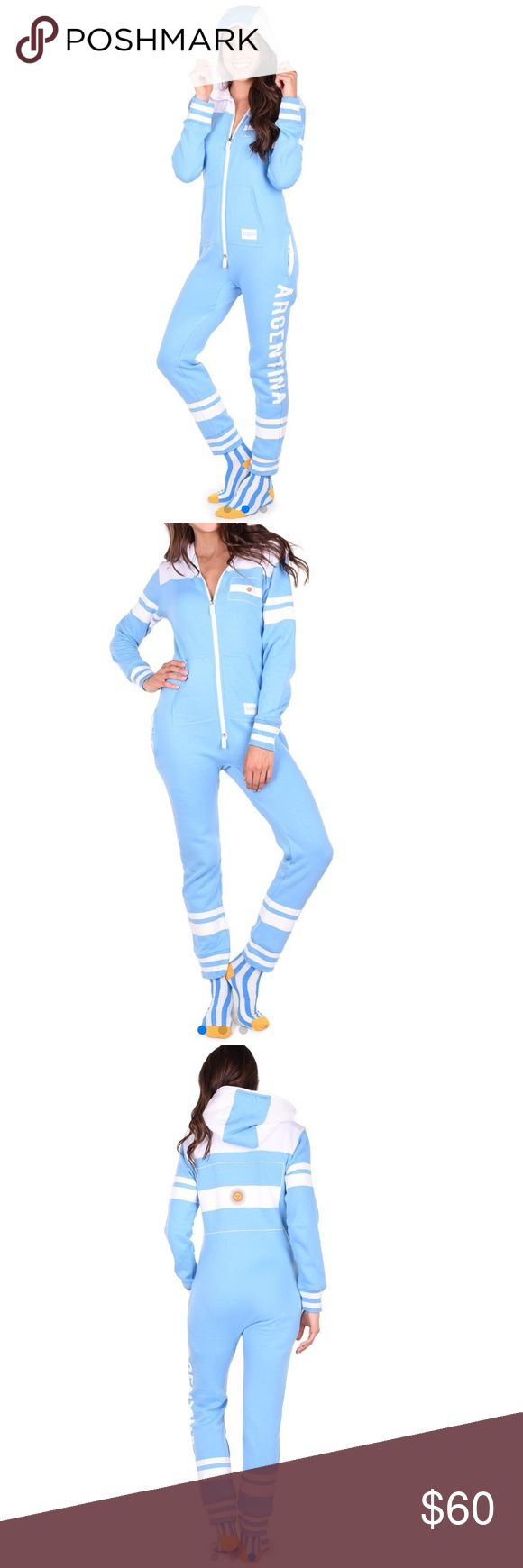 Tipsy Elves Argentina Women's Onesie Super comfy Argentina onesie with hood and pockets! Never been worn! Tipsy Elves Other