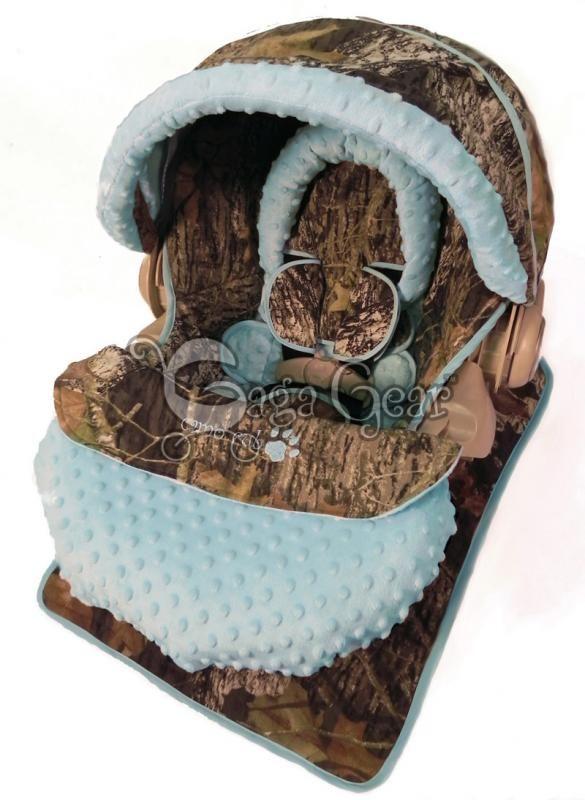 Baby boy camo car seat cover - Gaga Baby Gear