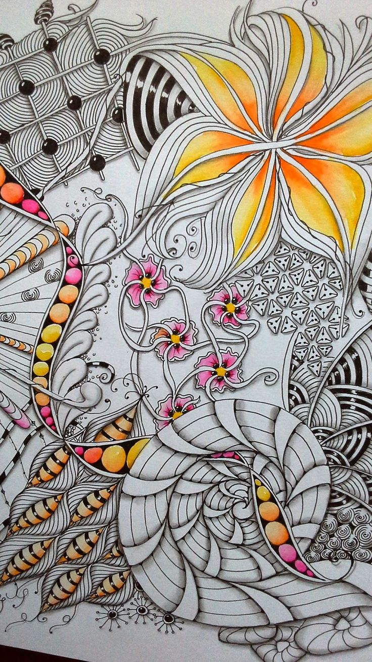 Zen doodle colour - Find This Pin And More On Zentangle Art Love The Subtle Colour Detailing Really Nice Zendoodle