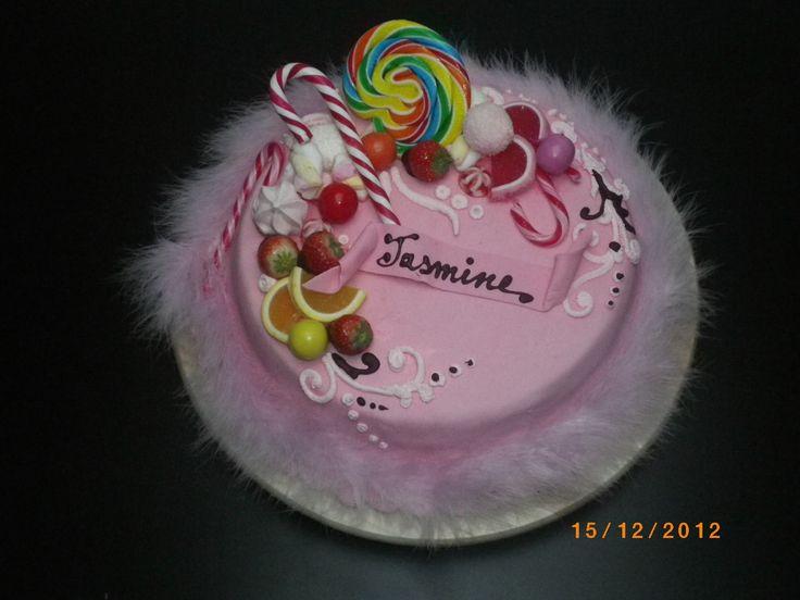 torta con caramelle compleanno