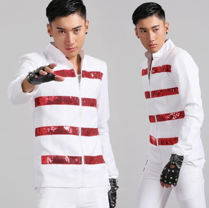 Stand collar men suits designs white stage costumes for singers men sequin blazer dance clothes jacket style dress punk rock -*- AliExpress Affiliate's buyable pin. Click the image to visit www.aliexpress.com