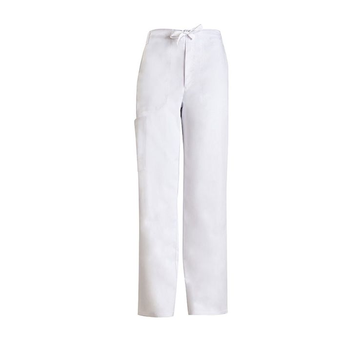 Cherokee Men's White Luxe Fly Front Drawstring Pant