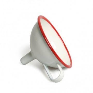 Trechter, emaille, rood, Ø 11 cm