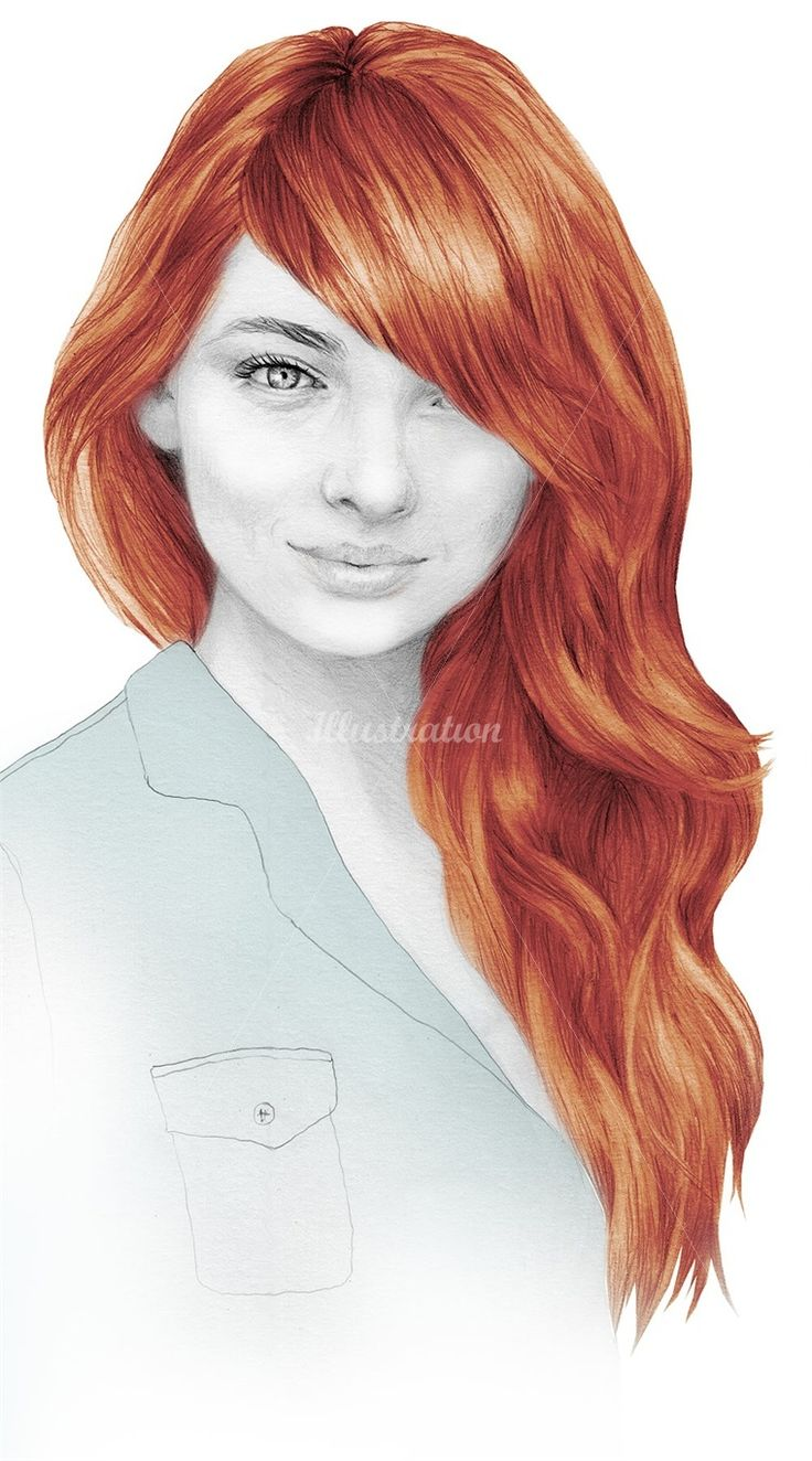 Art color hair - She Used Pencil Pastels And A Wash Of Paint I Love The Blast Of Colour In This And The Detail In The Hair Is Incredible