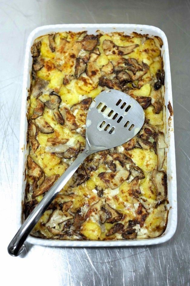 Запеканка из картофеля с белыми грибами