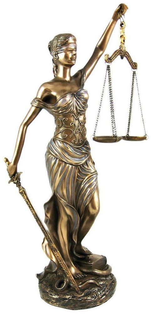 Lady Justice Blind Scale goddess justica greek decorative figurine statue themis