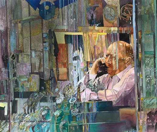 One of America's most highly recognized watercolorists. John Salminen is a prolific painter. He captures his subjects – usually urban landscapes – with his camera and then paints them realistically with water color. Ranging from San Francisco to the Chicago Loop to Greenwich Village to rainy Paris to Shanghai