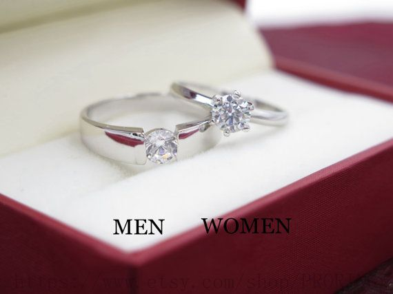 2PCS 0.60.65 CT Wedding rings Wedding Couple Rings by PRORINGS