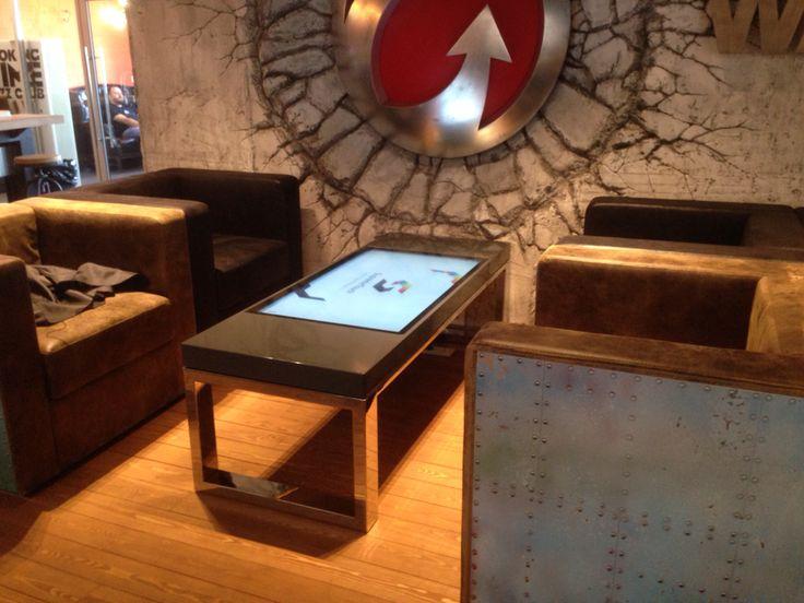 Компания #WarGaming известна всему миру своими сверхпопулярными играми World of Tanks и World of Airplanes. При этом вся разработка происходит в Белоруссии. Этим летом они открыли очень стильный Lounge на 12-м этаже своего здания в Минске, а мы установили несколько уникальных #multitouch столов.  #multitouch tables for #WarGaming.net lounge