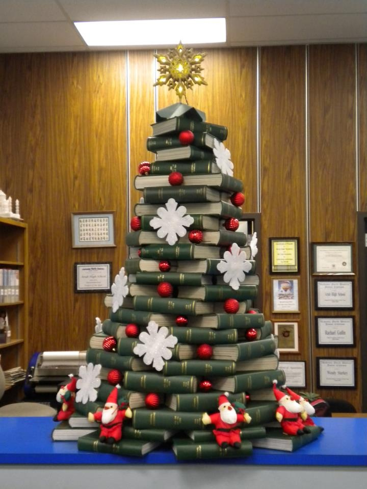 Library Christmas tree! Arab High School. Arab, Alabama