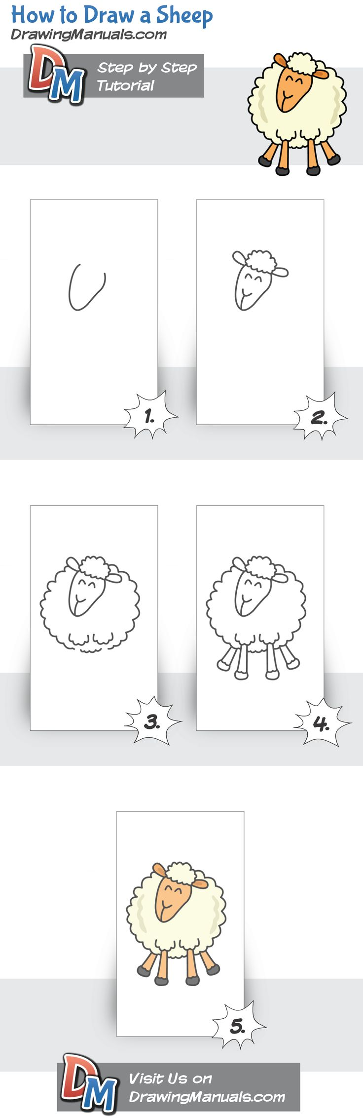 how to make sheep with felt kids