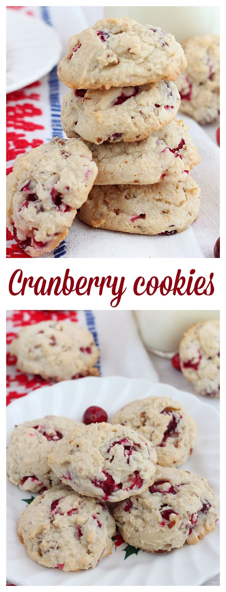 Sweet and soft, these nutty cranberry cookies are a family favorite. Make them for friends and family, for your next cookie exchange or bake and freeze getting them out when the cravings strike.