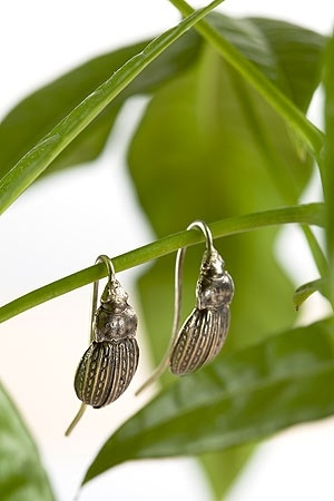 Earrings Bugs, Silver
