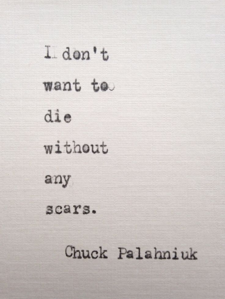 Chuck Palahniuk quote hand typed on antique typewriter