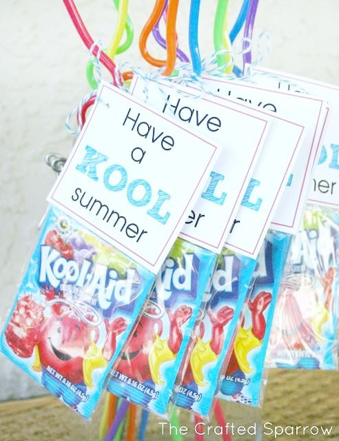 Have a KOOL Summer Printable Tags, 3 different colored tags now available.   thecraftedsparrow.com