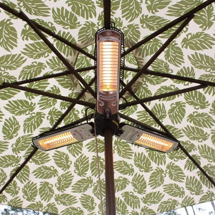 Gotta keep warm! Umbrella Halogen Patio HeaterUmbrellas Halogen, Fire Sen, Backyards Patios, Halogen Patios, Outdoor Patios, Umbrellas Heater, Umbrellas Patios, Patios Heater, Electric Patios