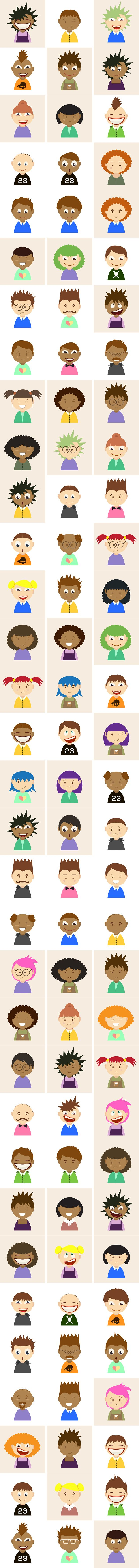 Find all these awesome vector illustrations and much more here: https://www.inkydeals.com/deal/900-vector-characters-pack/
