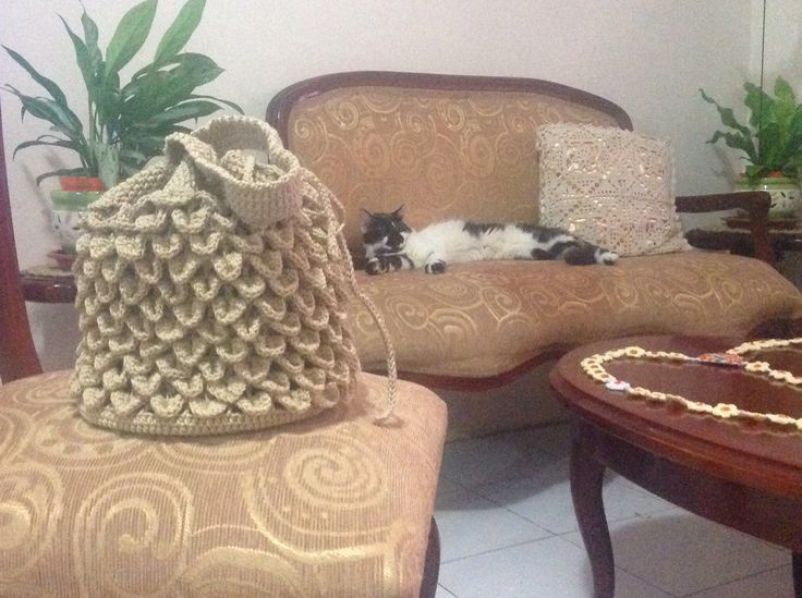 Bolso en crochet para dama, crochet purse for women.
