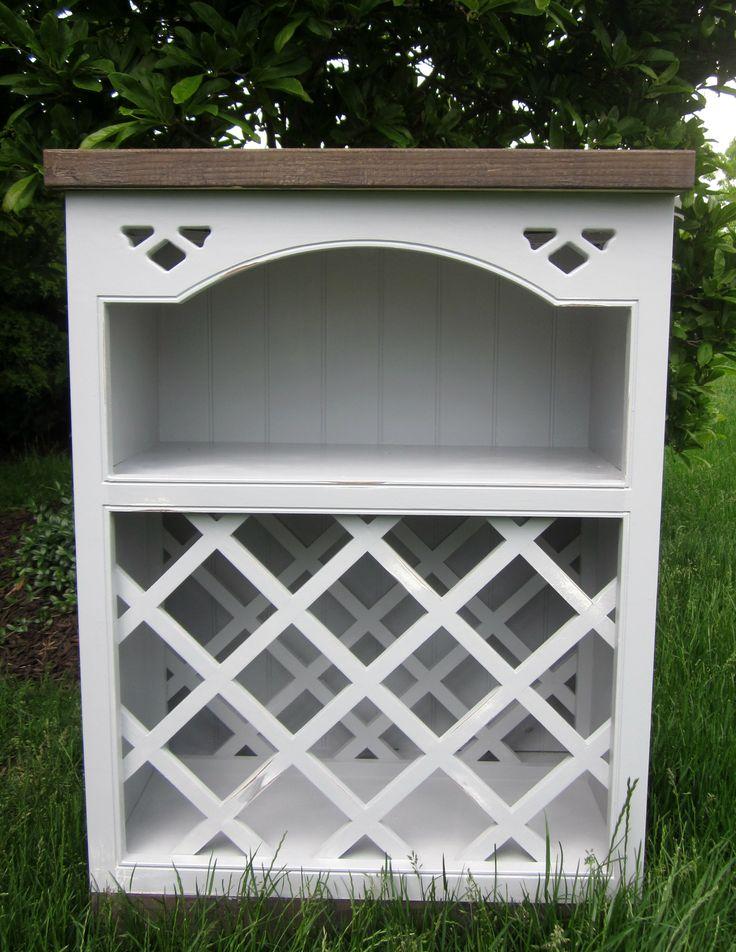 Cabinet wine rack lattice woodworking projects plans for Diy wine lattice