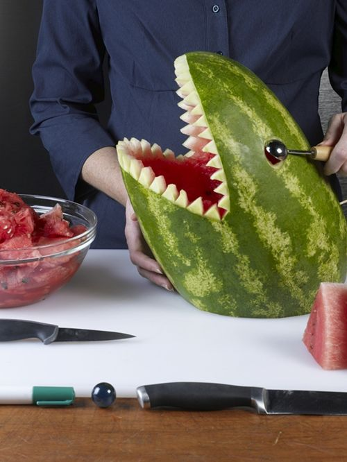 How to carve a watermelon shark sharkweek