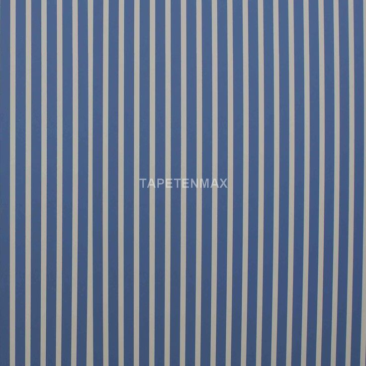 71611 Manekin Streifentapete für das Kinderzimmer von Marburg als praktische Vliestapete in Weiß - Blau. Ergänzbar mit Uni- Tapeten.