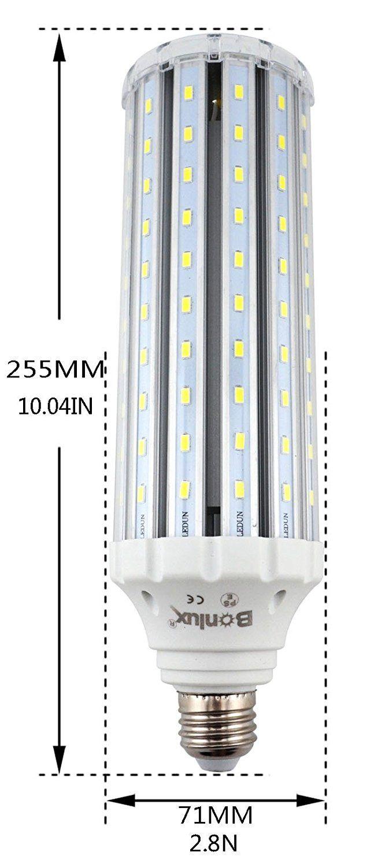 Bonlux 45W E27 LED Corn Light Bulb Warm White 3000K 400W Halogen/150W CFL Replacement Edison Screw ES Retrofit LED Lamp for Street Light/High Bay/Low Bay/Floodlight Bulb: Amazon.co.uk: Lighting