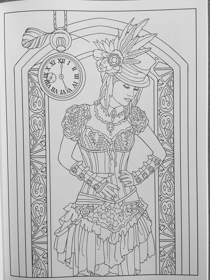 creative haven steampunk fashions coloring book creative haven coloring books marty noble - Gothic Coloring Book