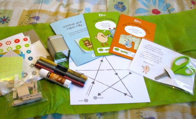 Next to arrive was Kiwi Crate. This was one of my favorites of the subscription boxes we sampled — the crafts were clever and original, and we did a lot of giggling as we crafted. There was something to appeal to all my younger kids — my boys ages three and eight as well as six-year-old Rilla. Kiwi Crate's angle is arts, crafts, and science projects, and I was impressed by the quality and inventiveness of the activities.