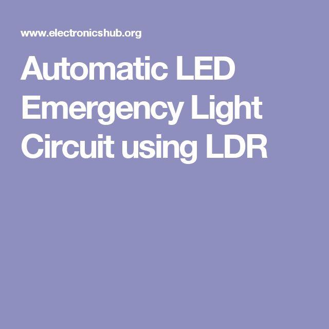 Street Light Using Ldr And Transistor: 25+ Unique Ldr Circuit Ideas On Pinterest
