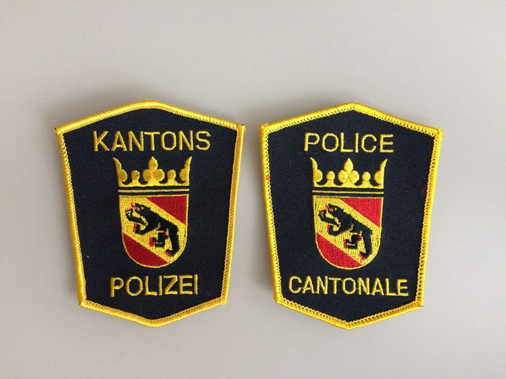 2 Patch Kantons Polizei Bern New Original