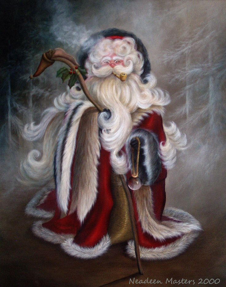 Downloadable Painting Pattern - Acrylic - Waiting For Christmas Eve by Neadeen…