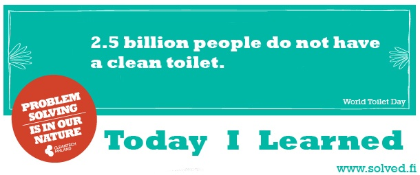 TIL: 2.5 billion people do not have a clean toilet.