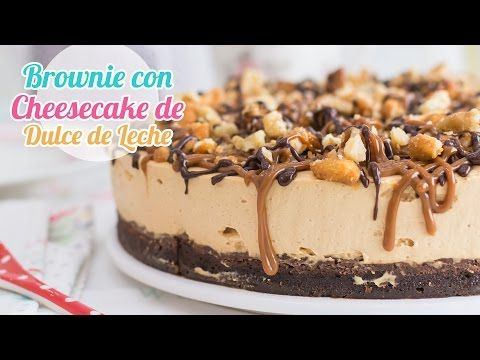 Receta de brownie facil y receta relleno de cheesecake dulce de leche facil. YouTube