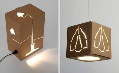 These lights look to be made from boxes with cutouts.  Very cool.