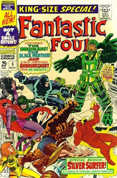 Fantastic Four Annual #5 first appearance of the Psycho-Man.
