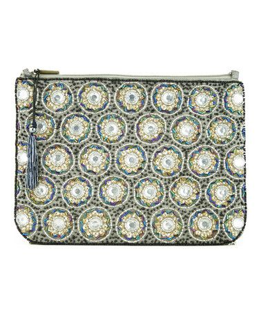 Pink Pewter | #zulily - Gray Beaded Malo Clutch #zulilyfinds