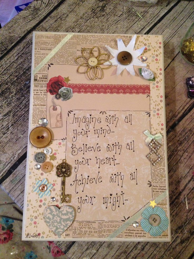decorated canvas from £10