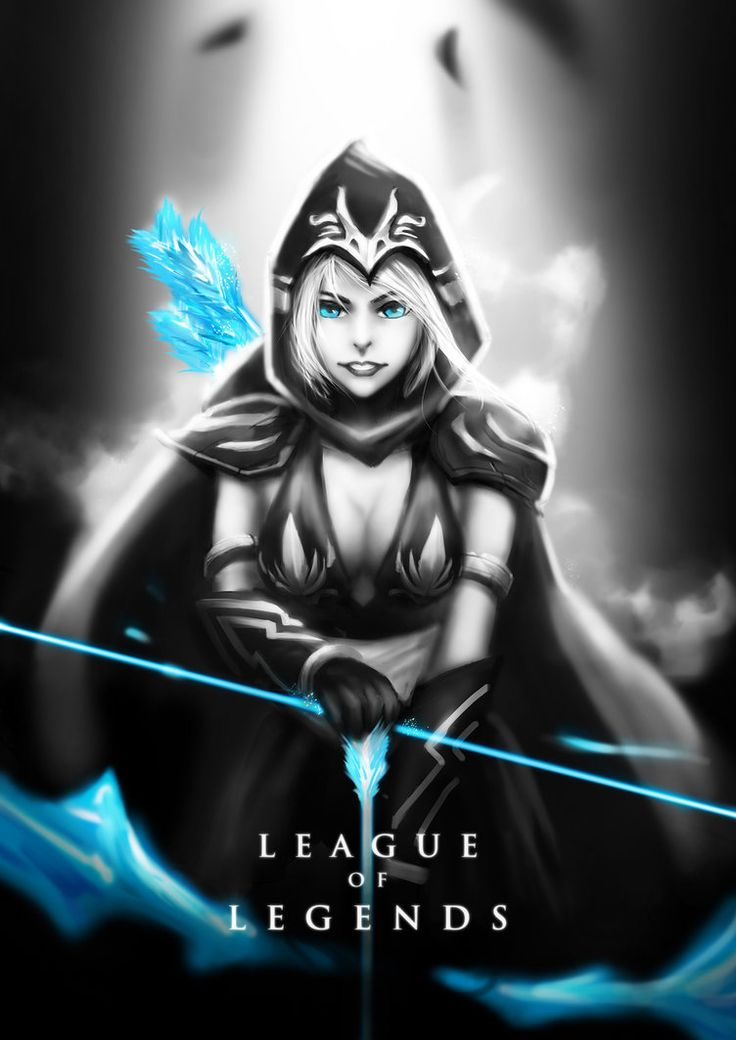 Ashe by wacalac on deviantART | Black and White LoL ...