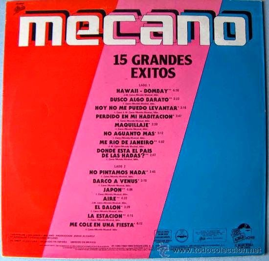 That was yesterday: Mecano - Los Grandes Éxitos