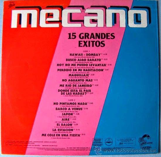 That was yesterday: Mecano - Los Grandes Éxitos