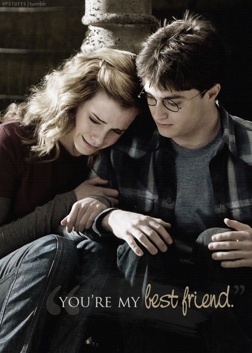 reminds me soooo much of me and my best friend. though his nickname is Ron, we have the friendship of Harry and Hermione.