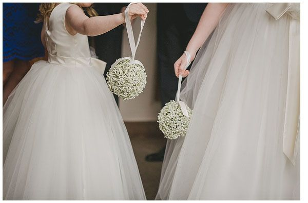 Lovely flower girl Gypsophila Pomander #Wedding #Flowers