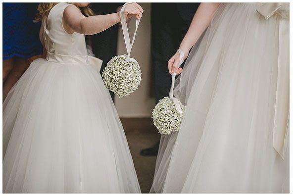 Red Rose Wedding Dresses Sutton Coldfield : Girl gypsophila pomander ivory wedding flower cute ideas bridesmaid