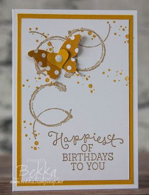 Timeless Textures Birthday Card with Butterflies