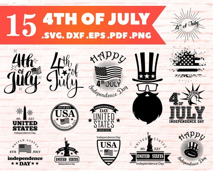 Download 4th of july svg, Silhouette, Cricut, SVG, PNG, Clip Art ...