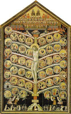 Albero della Vita - Pacino di Buonaguida ( 1305 - 1310 ). Galleria dell'Accademia, Firenze